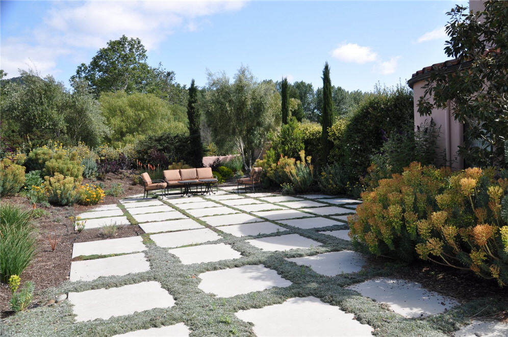 Large pavers for patio large paver patio pattern patio for Large landscaping stones